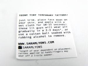 Tattoo Instructions