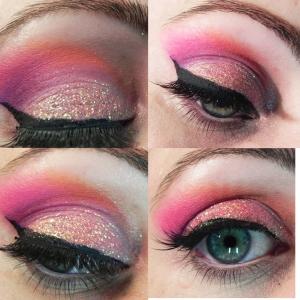 peach glitter